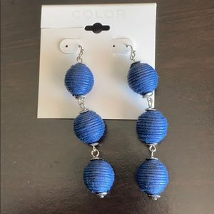 Statement earrings navy balls